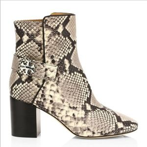 Tory Burch NWT Kira Snakeskin Leather Ankle Boots 6.5